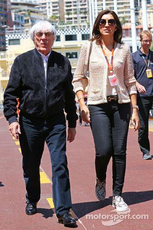 (L to R): Bernie Ecclestone, with Fabiana Flosi,