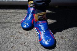 De Alpinestars raceschoenen van Max Verstappen, Scuderia Toro Rosso