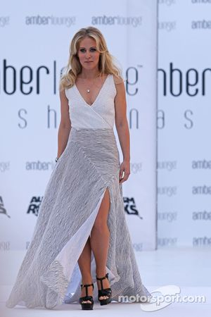 Jennifer Becks, girlfriend of Adrian Sutil, Williams Reserve Driver, at the Amber Lounge Fashion Sho