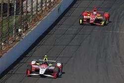Bryan Clauson, KV Racing Technology Chevrolet and Sebastian Saavedra, Chip Ganassi Racing Chevrolet