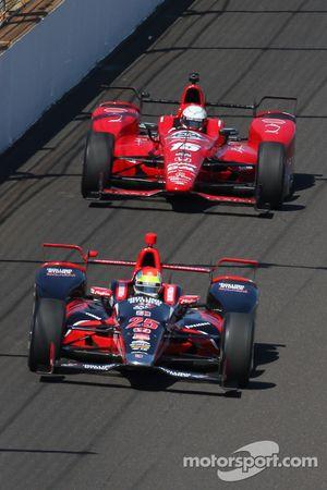 Justin Wilson, Andretti Autosport Honda et Graham Rahal, Rahal Letterman Lanigan Racing
