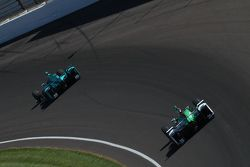 James Davison, Dale Coyne Racing Honda et Carlos Munoz, Andretti Autosport Honda