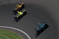 Ryan Hunter-Reay, Andretti Autosport Honda, Sage Karam, Chip Ganassi Racing Chevrolet et Ed Carpenter, CFH Racing Chevrolet