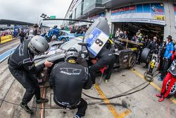 Pit stop for #9 Scuderia Cameron Glickenhaus SCG003C: Manuel Lauck, Marino Franchitti, David Jahn, F