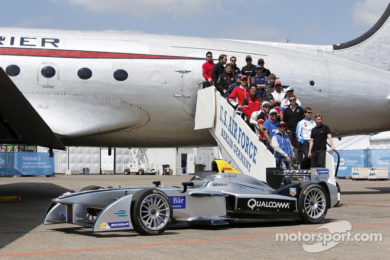 Foto de grupo de pilotos Berlín ePrix