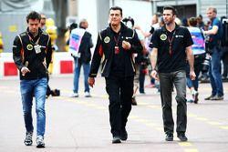 (L to R): Jolyon Palmer, Lotus F1 Team Test and Reserve Driver with Federico Gastaldi, Lotus F1 Team