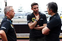 (L to R): Mark Slade, Lotus F1 Team Race Engineer with Matthew Carter, Lotus F1 Team CEO and Nick Ch