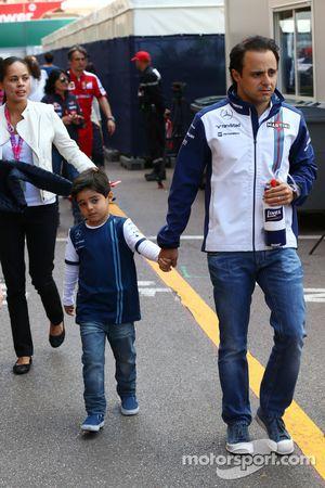 Felipe Massa, Williams con su hijo Felipinho Massa,