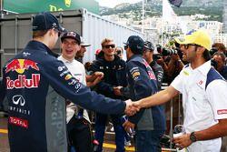 Даниил Квят, Red Bull Racing; Макс Ферстаппен, Scuderia Toro Rosso и Фелипе Наср, Sauber F1 Team