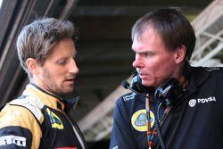Ромен Грожан, Lotus F1 Team и Алан Пермейн, Lotus F1 Team