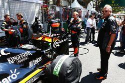 Виджей Маллья, владелец команды Sahara Force India F1 на стартовой решетке