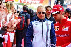 Valtteri Bottas, Williams, tijdens de rijdersparade