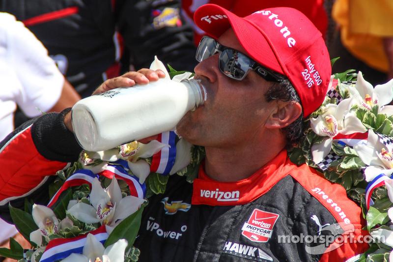 El ganador Juan Pablo Montoya, Team Penske Chevrolet