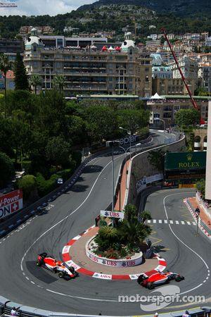 Will Stevens, Manor F1 Team, leidt Roberto Merhi, Manor F1 Team