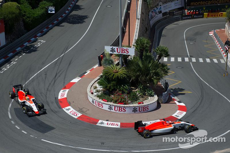 Will Stevens, Manor F1 Team memimpin Roberto Merhi, Manor F1 Team