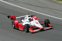 Damage on Juan Pablo Montoya, Team Penske Chevrolet