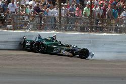 Ed Carpenter, CFH Racing Chevrolet crashes