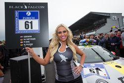 Black Falcon grid girl