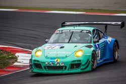 #44 Team Falken Tire, Porsche 997 GT3 R: Peter Dumbreck, Wolf Henzler, Martin Ragginger, Alexandré I