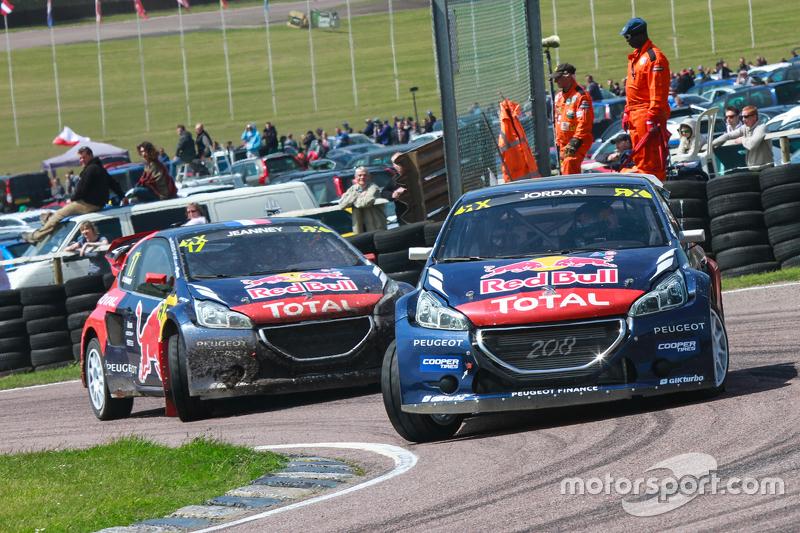 Andrew Jordan und Davy Jeanney, Team Peugeot Hansen