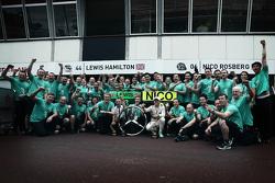 Nico Rosberg, Mercedes AMG F1 Team celebrates his win