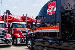 Les camions de l'IndyCar