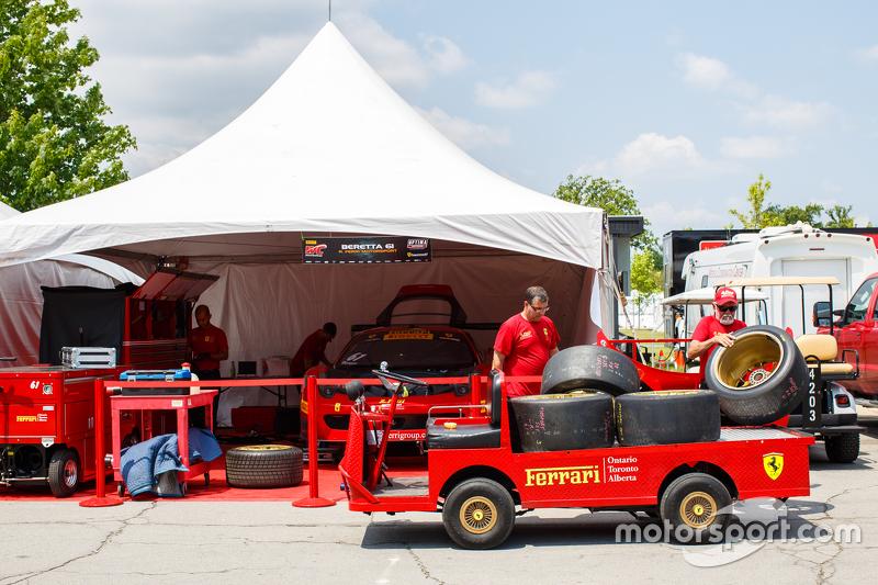 R. Ferri Motorsport team area