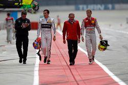 Robert Wickens, HWA AG Mercedes-AMG C63 DTM en Jamie Green, Audi Sport Team Rosberg Audi RS 5 DTM