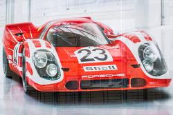 Porsche advertising banner overlooking the paddock