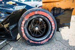 Wrecked car of Josef Newgarden, CFH Racing Chevrolet