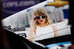 Taylor Swift on an IndyCar