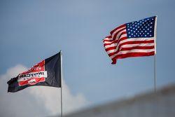 Bandera de IndyCar y la bandera americana