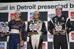 Podium: Race winner Carlos Munoz, Andretti Autosport Honda, second place Marco Andretti, Andretti Au