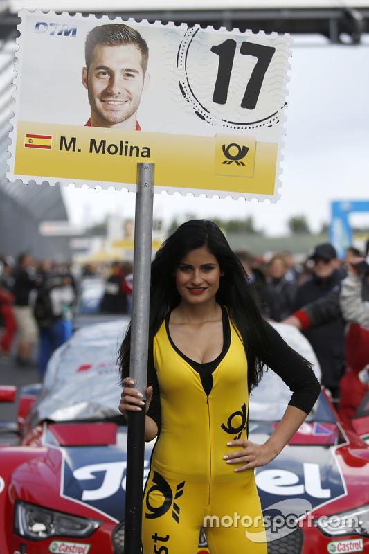 Gridgirl von Miguel Molina, Audi Sport Team Abt, Audi RS 5 DTM