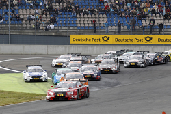 Start of the Race, Miguel Molina, Audi Sport Team Abt Audi RS 5 DTM leads