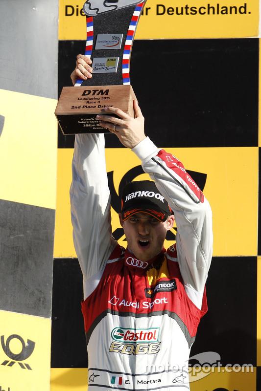 Podium: 2nd Edoardo Mortara, Audi Sport Team Abt Audi RS 5 DTM