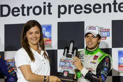 Podium: Race winner Carlos Munoz, Andretti Autosport Honda
