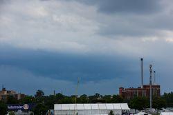 Nuvens de chuva em Detroit