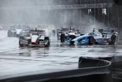Stefano Coletti, KV Racing Technology e Tony Kanaan, Chip Ganassi Racing Chevrolet crash