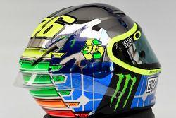 Diseño del casco de Valentino Rossi, de Yamaha Factory Racing para el 2015 Gran Premio de Italia en