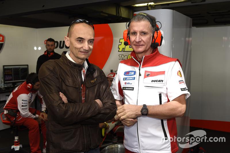 Claudio Domenicali, Ducati CEO and Paolo Ciabatti, Sporting Director Ducati Team