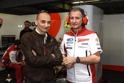 Claudio Domenicali en Paolo Ciabatti, Ducati Team