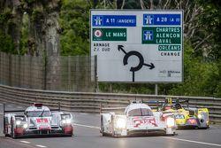 #9 Audi Sport Team Joest, Audi R18 e-tron quattro: René Rast, Filipe Albuquerque, Marco Bonanomi und