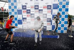 Race 3 Podium: winner Felix Rosenqvist, Prema Powerteam and third place Charles Leclerc, Van Amersfoort Racing