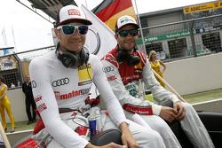 Timo Scheider, Audi Sport Team Phoenix Audi RS 5 DTM and Mike Rockenfeller, Audi Sport Team Phoenix