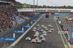 Start: Mattias Ekström, Audi Sport Team Abt Sportsline, Audi A5 DTM leads
