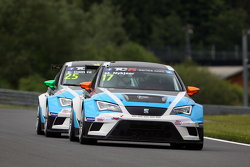 Michel Nykjaer, SEAT Leon, Target Competition ve Stefano Comini, SEAT Leon, Target Competition