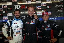 Qualifiche: terzo posto Stefano Comini, SEAT Leon, Target Competition, Kevin Gleason, Honda Civic TC