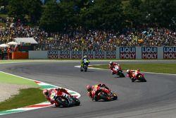 Andrea Iannone, Ducati Team; Marc Marquez und Dani Pedrosa, Repsol Honda Team; Andrea Dovizioso, Duc