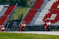 Andrea Iannone, Ducati Team, Marc Marquez et Dani Pedrosa, Repsol Honda Team, et Valentino Rossi, Yamaha Factory Racing